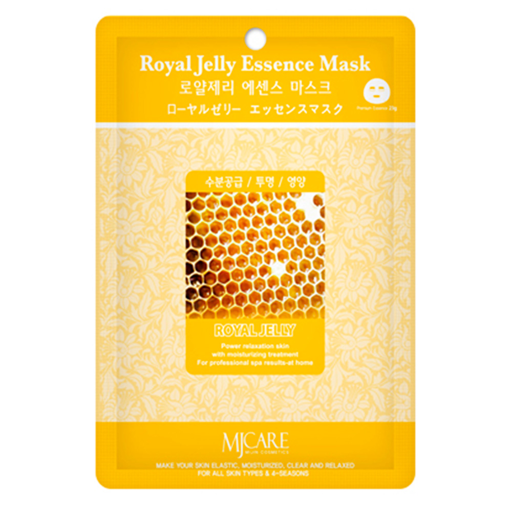 Mijin Essence Mask, Маска тканевая для лица маточное молочко (23 гр)