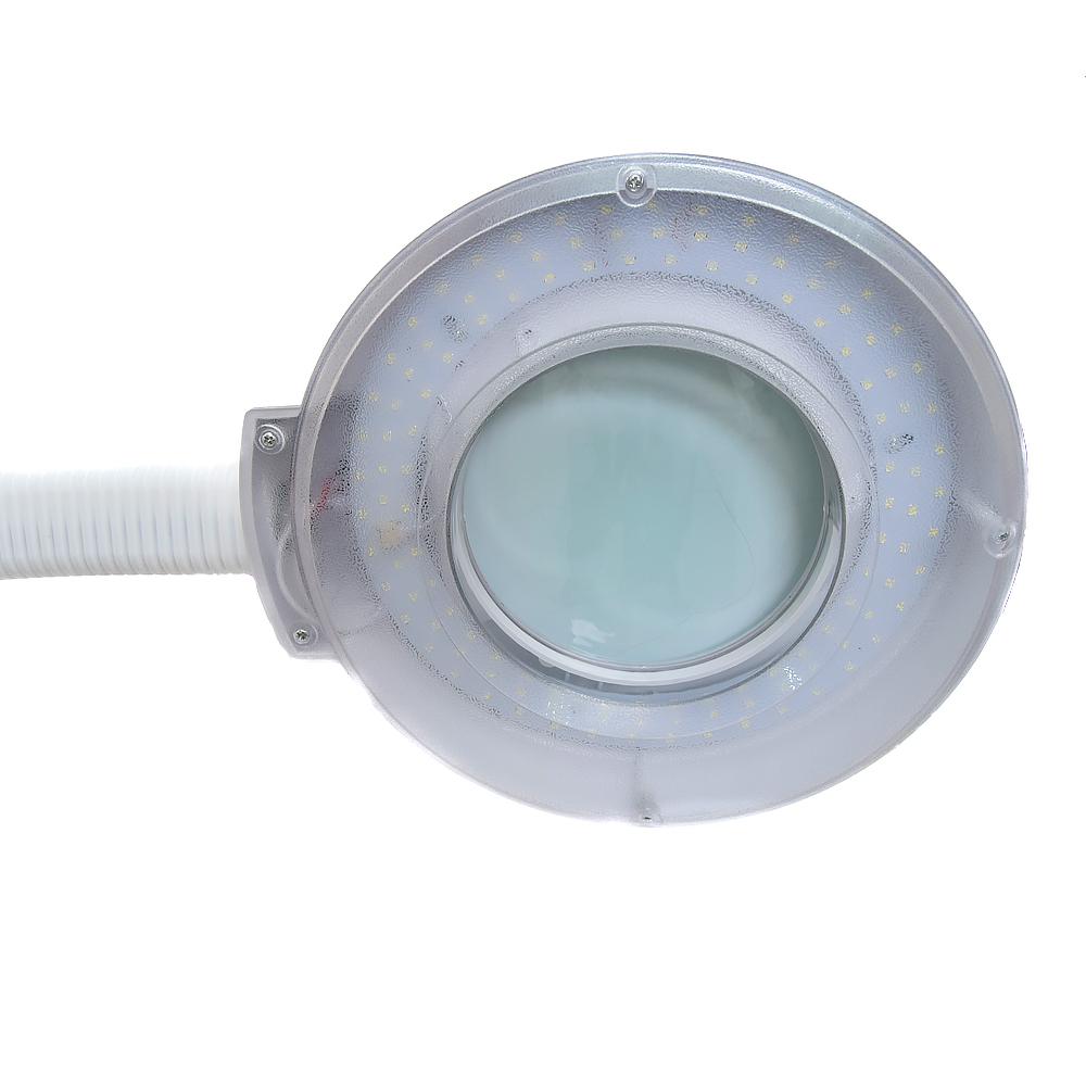 Лампа мастера напольная с лупой и крышкой, на подставке