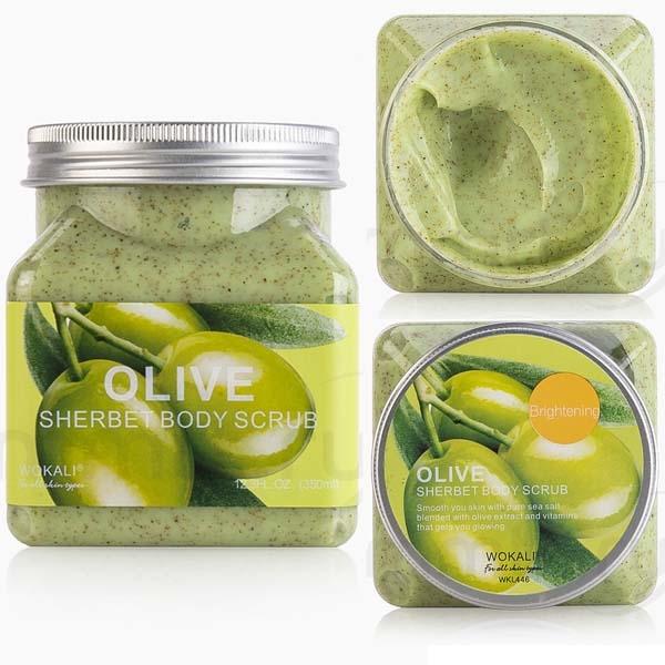 WOKALI, Скраб для тела с экстрактом Оливы Sherbet Body Scrub Olive, 350 мл