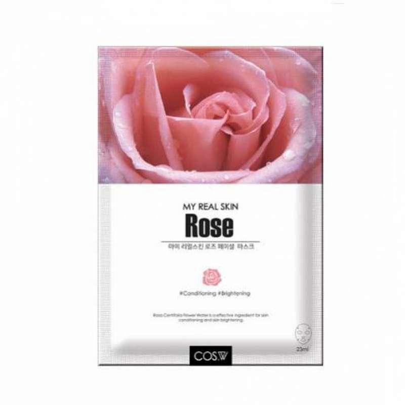COS.W, Маска тканевая My Real Skin Rose Facial Mask (роза), 23 гр