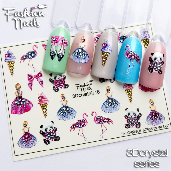 Fashion Nails, Слайдер-дизайн 3Dcrystal/16