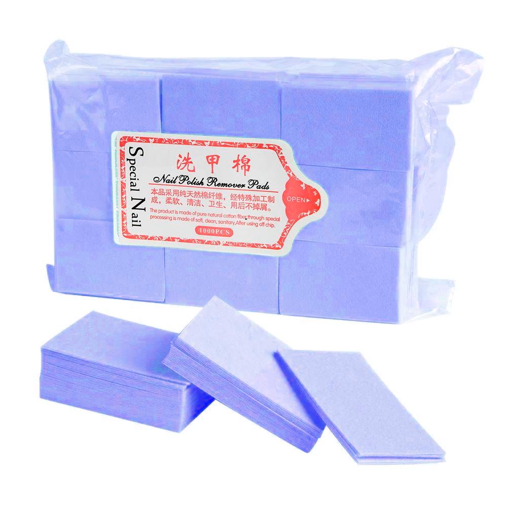Безворсовые салфетки плотные СИНИЕ 675 шт 4*6 см