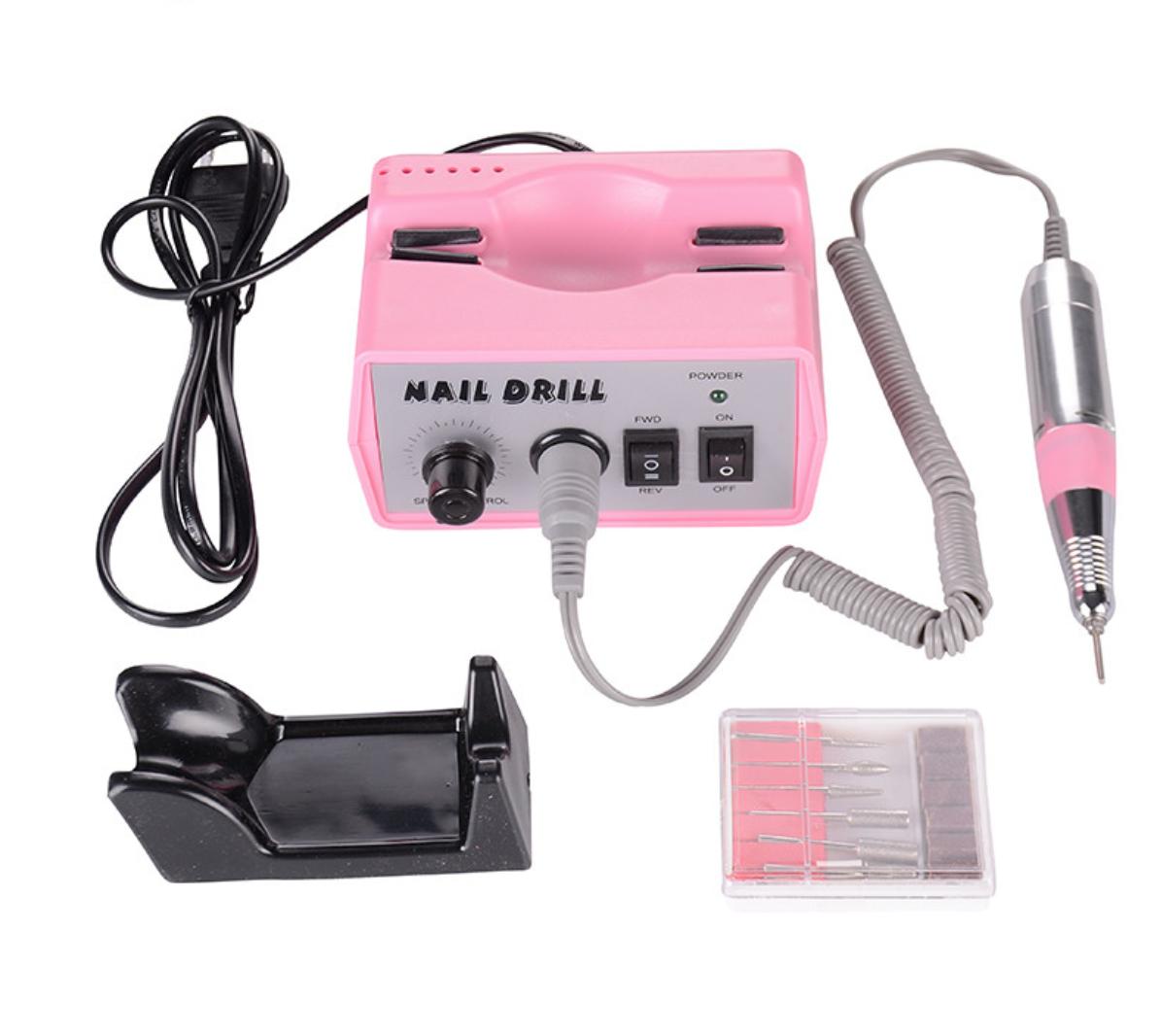 Профессиональная дрель для маникюра и педикюра DM-205 розовая (35 000 об/мин)
