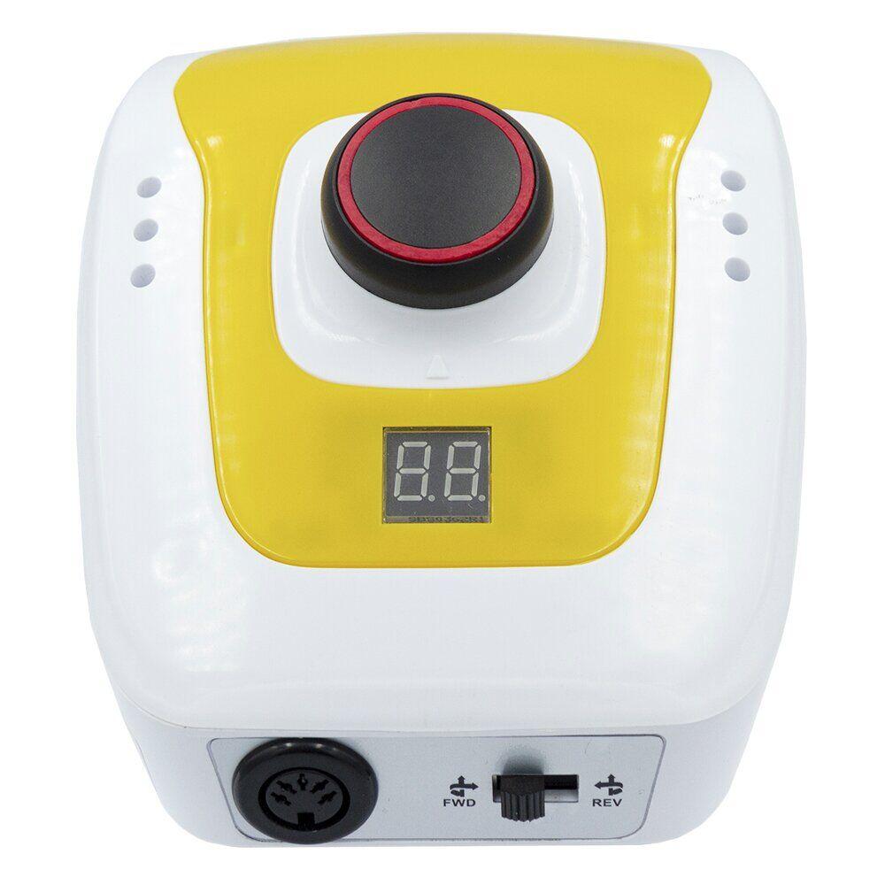 Аппарат для маникюра и педикюра DM-206 (65 Вт, 35 000 об/мин), цвет: ЖЁЛТО-БЕЛЫЙ