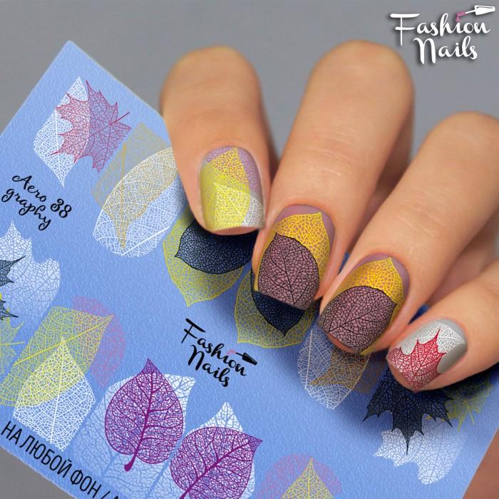 Fashion Nails, Слайдер-дизайн Aerography 38