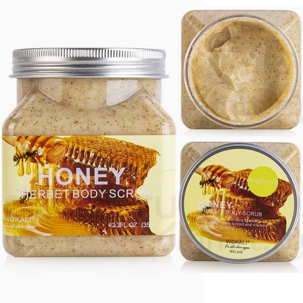 WOKALI, Скраб для тела с Медом Sherbet Body Scrub Honey, 350 мл