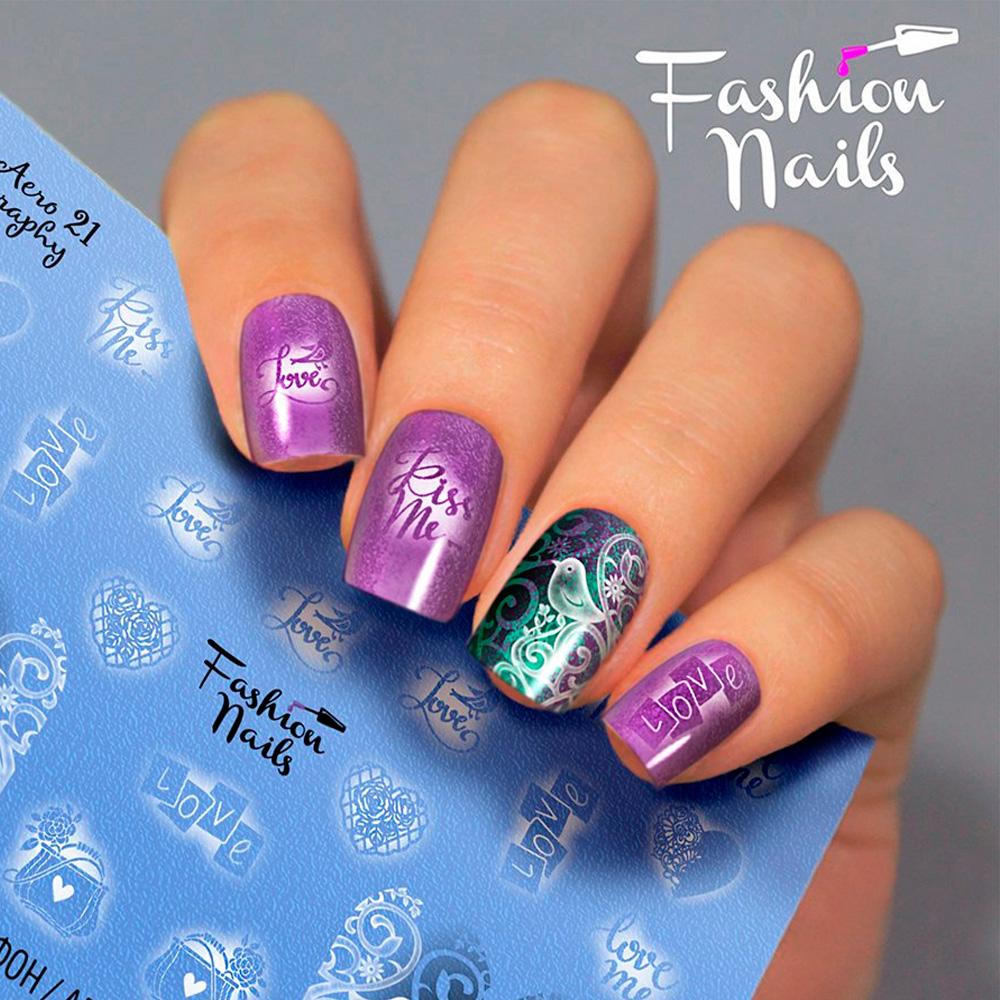 Fashion Nails, Слайдер-дизайн Aerography 21