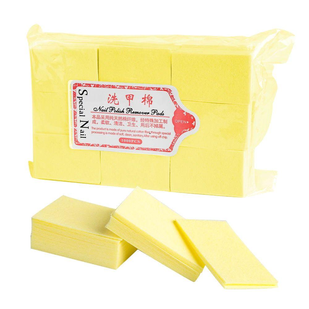 Безворсовые салфетки плотные ЛИМОННЫЕ, 675 шт (4*6 см)