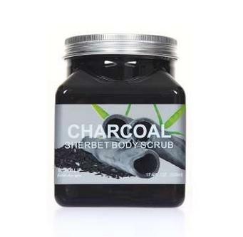 WOKALI, Скраб для тела с Углем Sherbet Body Scrub Charcoat, 350 мл