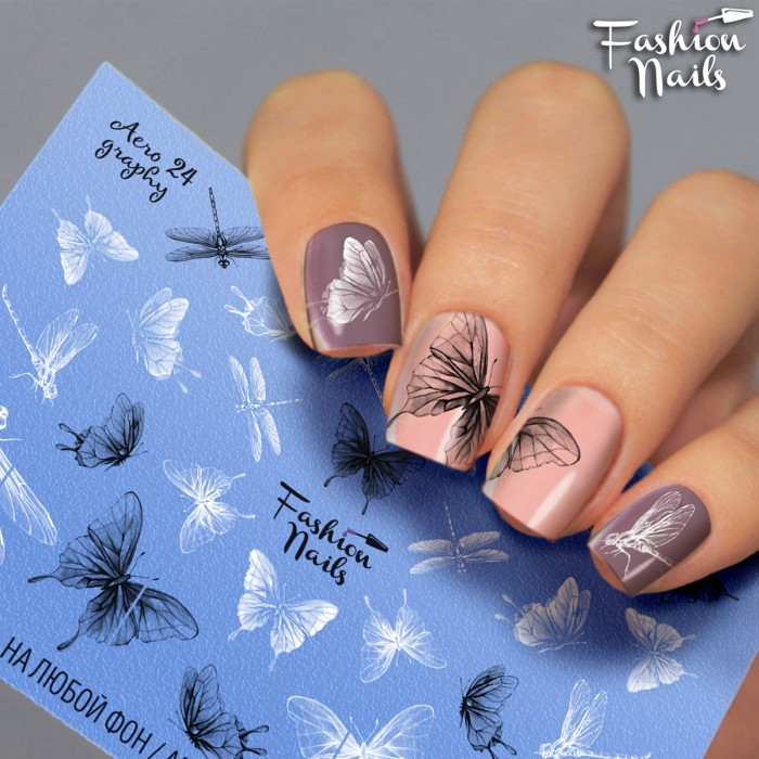 Fashion Nails, Слайдер-дизайн Aerography 24