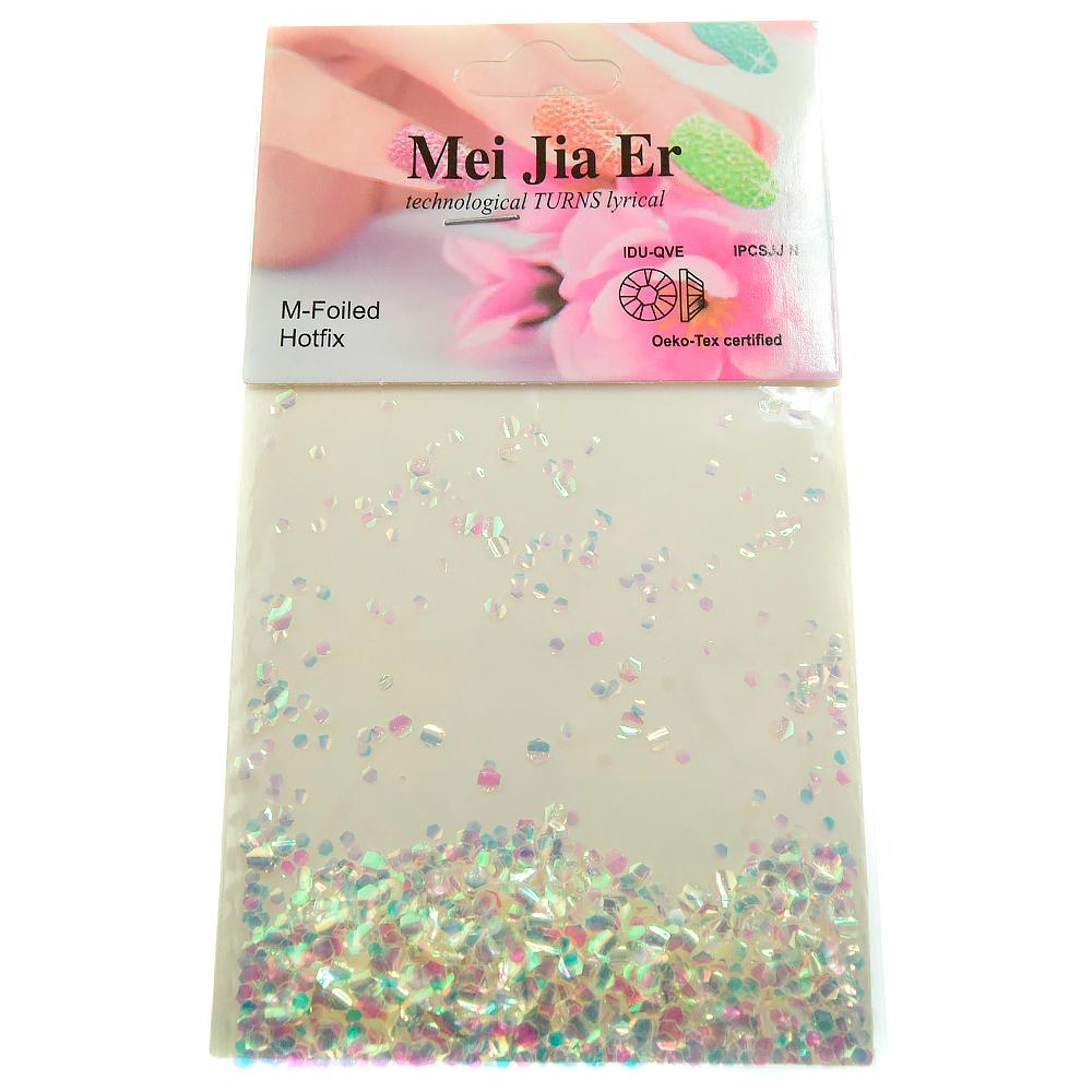 Mei Jia Er, чешуя крупная, цвет: белый с отливом, 3 гр