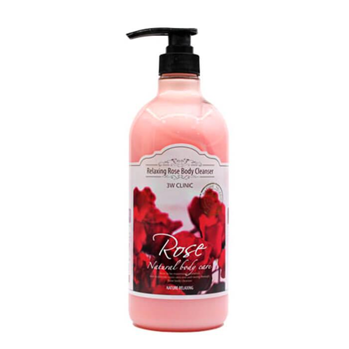3W CLINIC, Гель для душа релакс с ароматом Розы Relaxing Rose Body Cleanser, 1000 мл