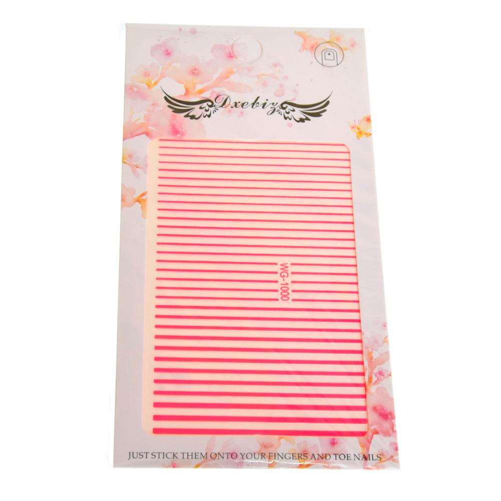 Гибкая (силиконовая) лента для дизайна ногтей, цвет: малиновый