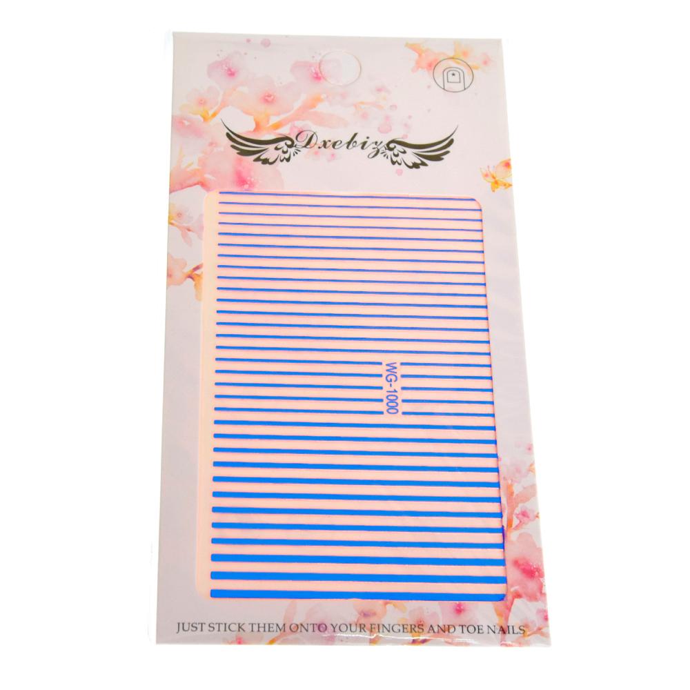 Гибкая (силиконовая) лента для дизайна ногтей, цвет: синий
