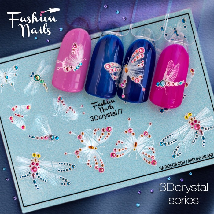 Fashion Nails, Слайдер-дизайн 3Dcrystal/7
