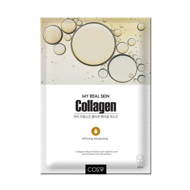 COS.W, Маска тканевая My Real Skin Collagen Facial Mask (коллаген), 23 гр