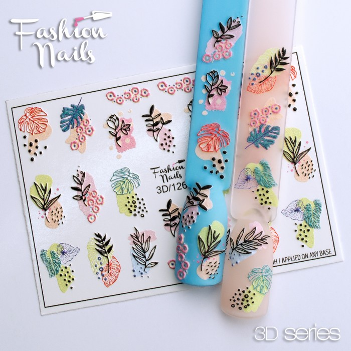 Fashion Nails, Слайдер-дизайн 3D/126