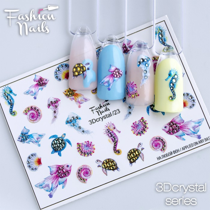 Fashion Nails, Слайдер-дизайн 3Dcrystal/23