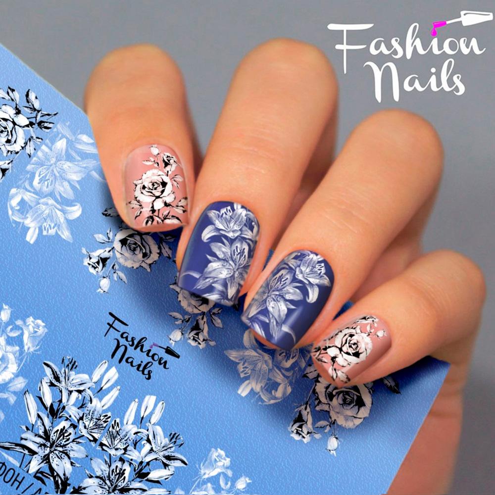 Fashion Nails, Слайдер-дизайн Aerography 34