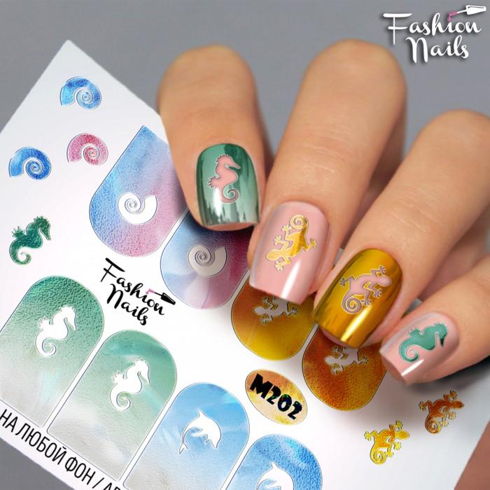 Fashion Nails, Слайдер-дизайн M202