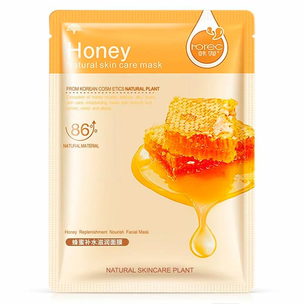 Rorec, Тканевая Очищающая Маска для лица с медом Natural Skin Honey Mask, 30 г