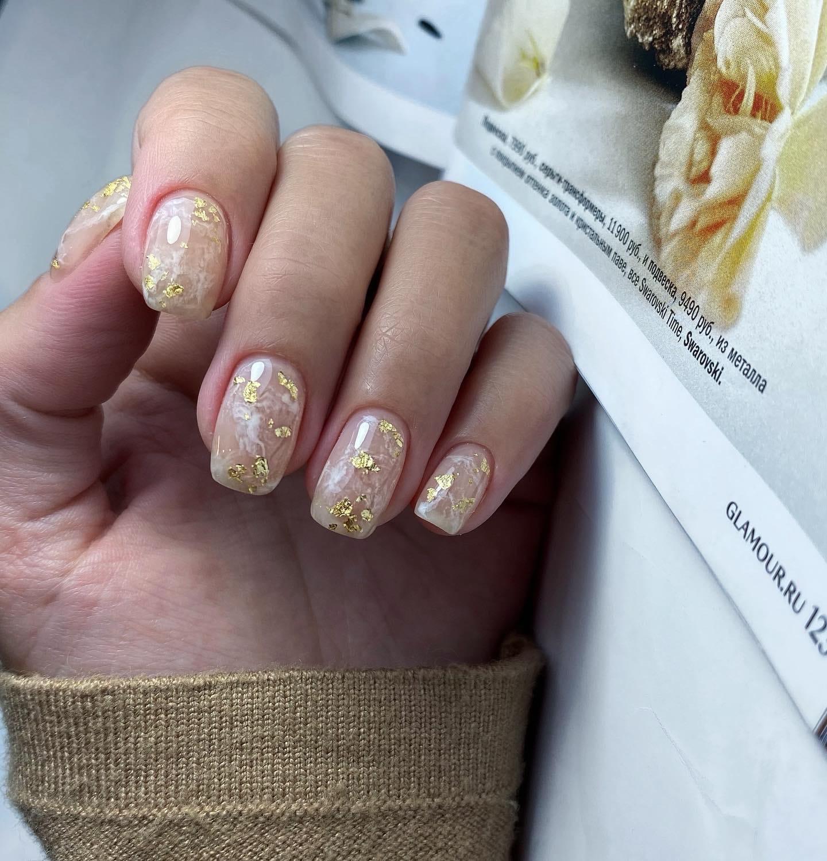 Nail Decorations, поталь для дизайна, набор 6 шт.