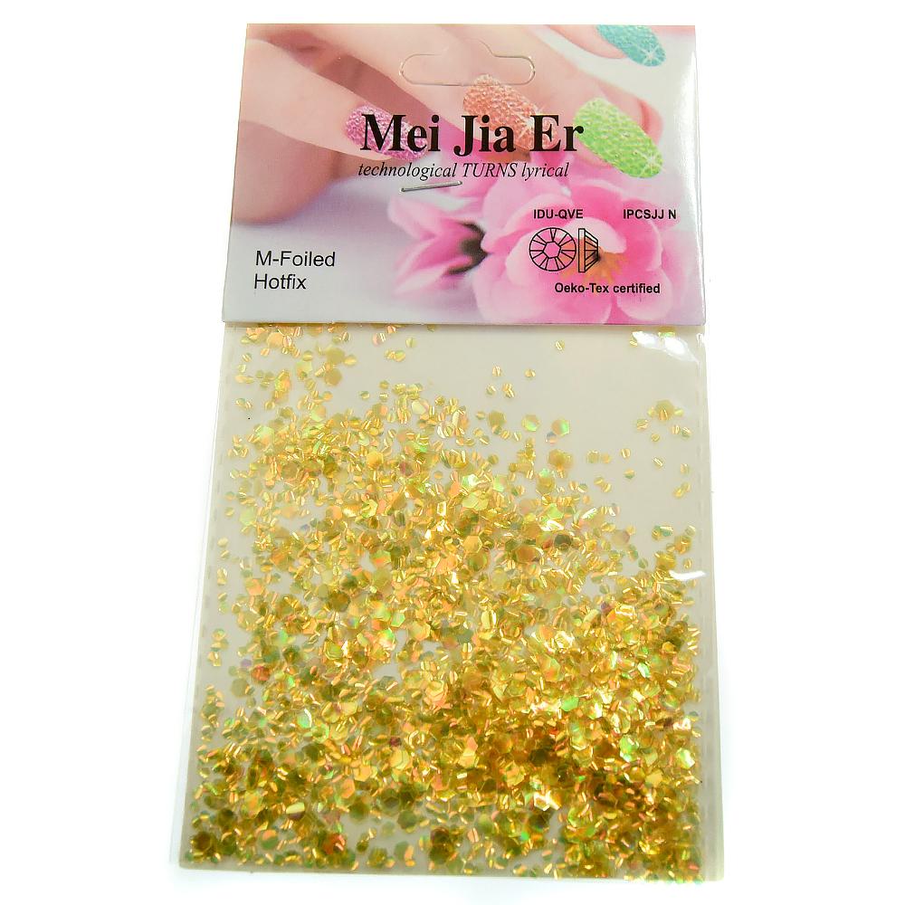 Mei Jia Er, чешуя крупная, цвет: золото, 3 гр