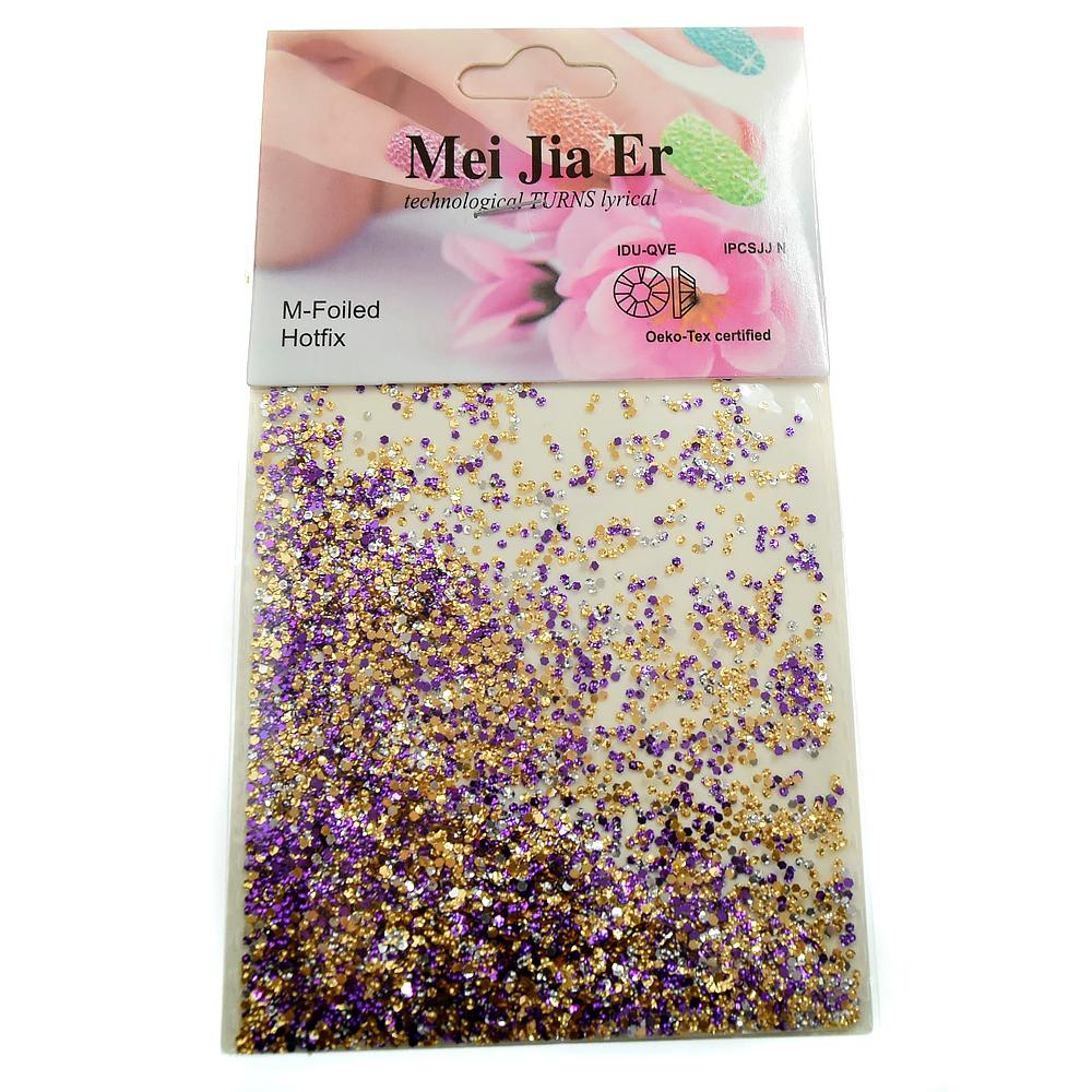 Mei Jia Er, чешуя мелкая, цвет: бронза-фиолетовый, 3 гр