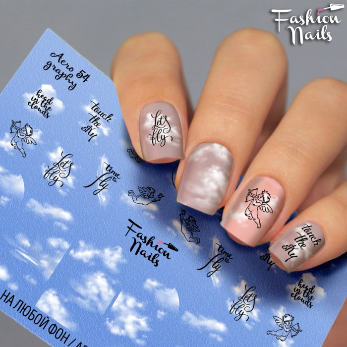 Fashion Nails, Слайдер-дизайн Aerography 54