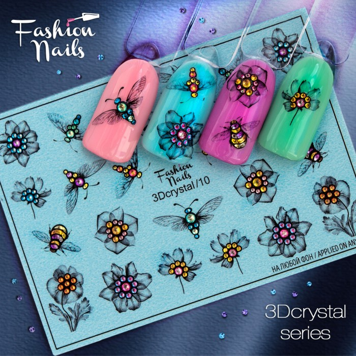 Fashion Nails, Слайдер-дизайн 3Dcrystal/10