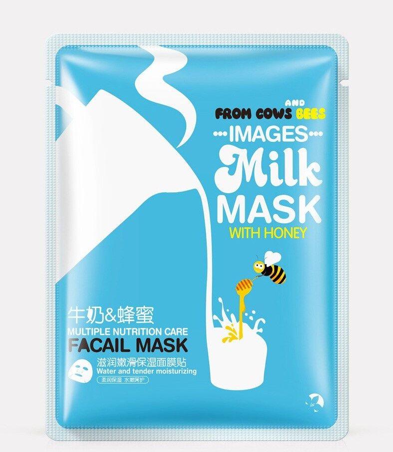 Images, Тканевая маска для лица с медом и молоком Milk facial mask, 30 г