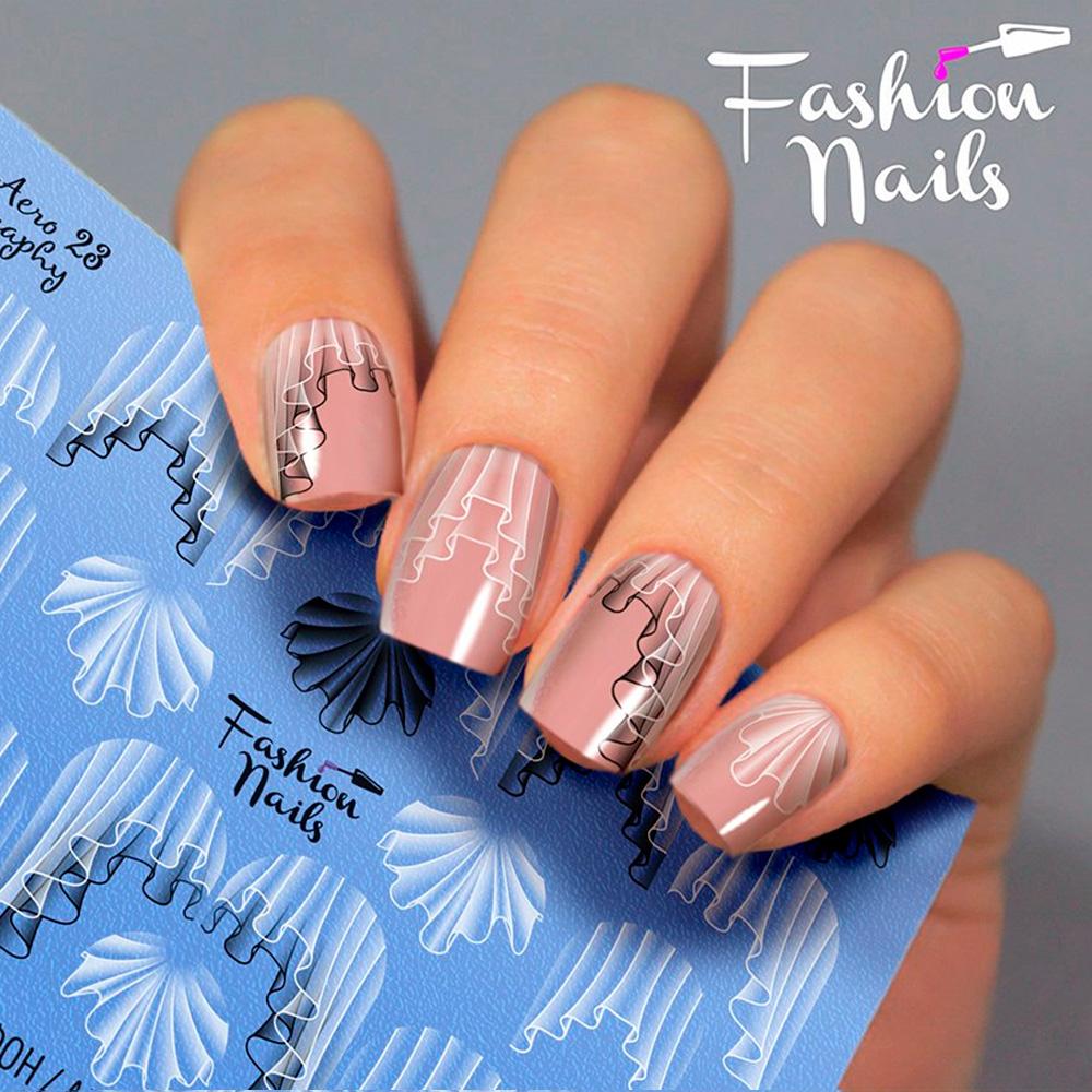 Fashion Nails, Слайдер-дизайн Aerography 23