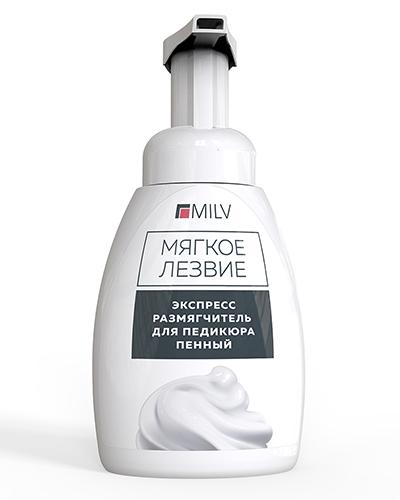 250 мл MILV Экспресс-размягчитель для педикюра пенный «Мягкое лезвие»