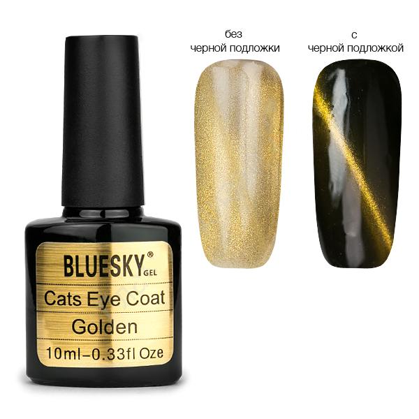 Bluesky, Топ с эффектом кошачий глаз, золото, 10  мл.