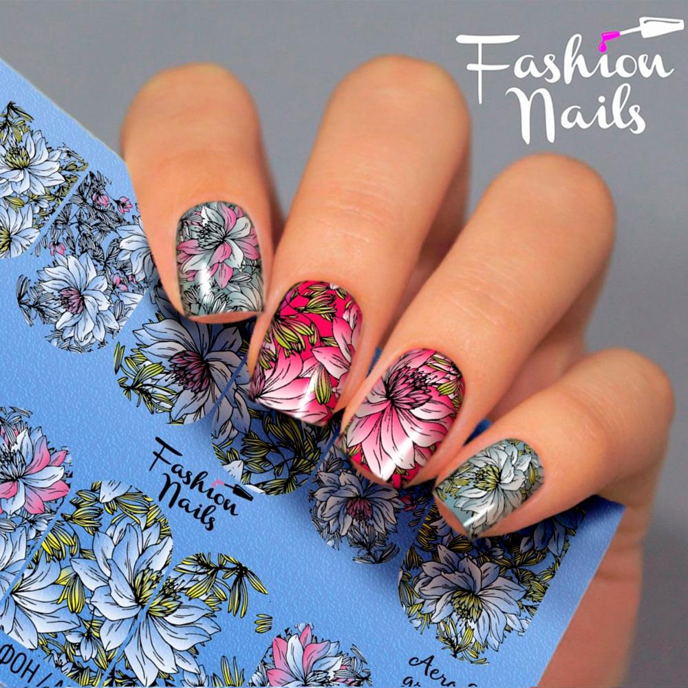Fashion Nails, Слайдер-дизайн Aerography 28