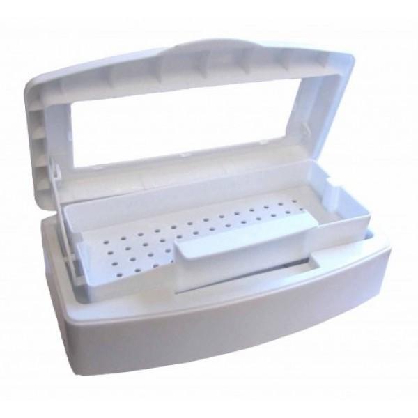 Контейнер пластиковый для стерилизации инструментов (19*8 размер внутренней ёмкости)