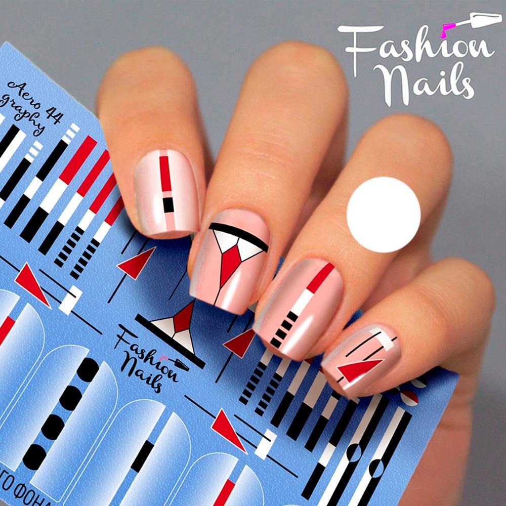 Fashion Nails, Слайдер-дизайн Aerography 44