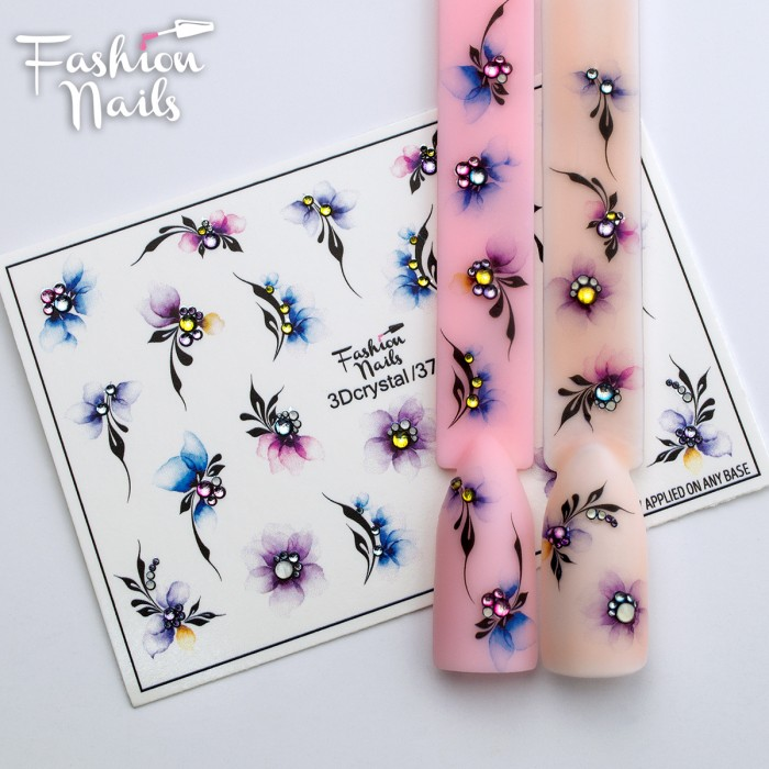 Fashion Nails, Слайдер-дизайн 3Dcrystal/37