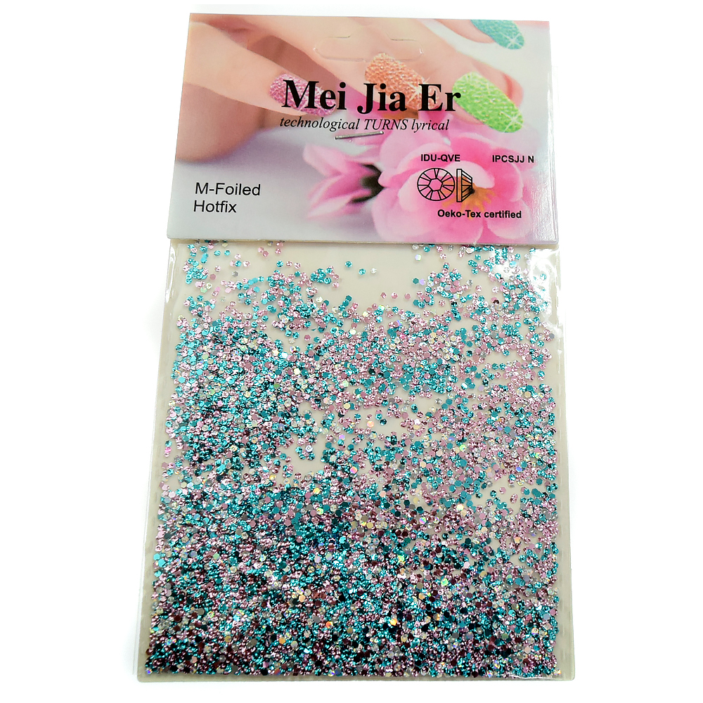 Mei Jia Er, чешуя мелкая, цвет: розовый-бирюза, 3 гр