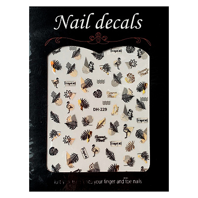 Nail decals, 2D стикер DH-229