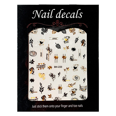 Nail decals, 2D стикер DH-233